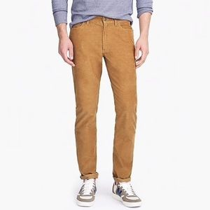 J crew slim fit flex corduroy tan pants